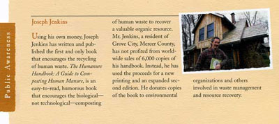 Humanure Handbook Receives Three Rivers Award Nomination 1998