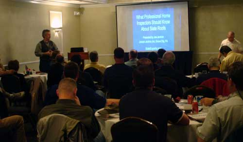 Joe Jenkins speaking at the Home Inspectors Conference in Pittsburgh, Pennsylvania, March 2010