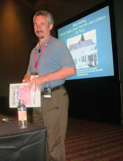 Joe Jenkins at the International Roofing Expo 2012