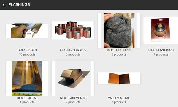 COPPER FLASHING FOR SLATE, TILE AND OTHER ROOFS