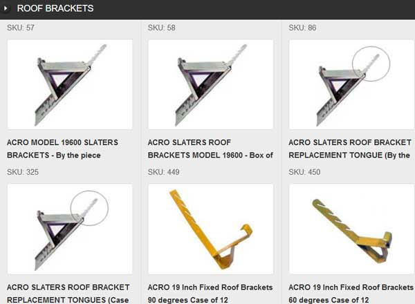 Roof brackets create roof scaffolds that allow workers to safely work on slate, tile, asbestos, or any steep roof.