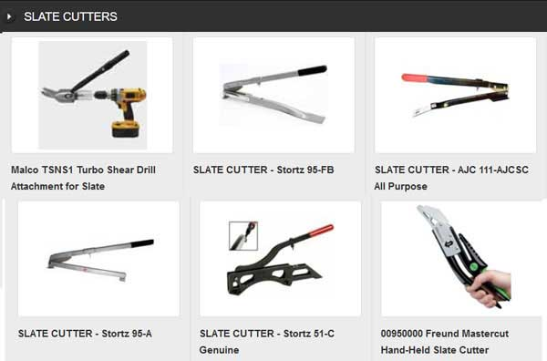 ROOFING SLATE CUTTERS for cutting, punching and trimming roofing slates