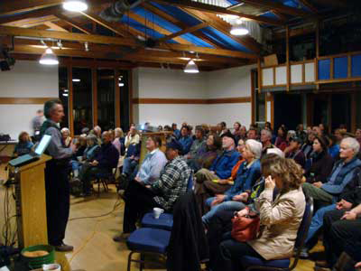 Joe Jenkins speaking at Marin County, California